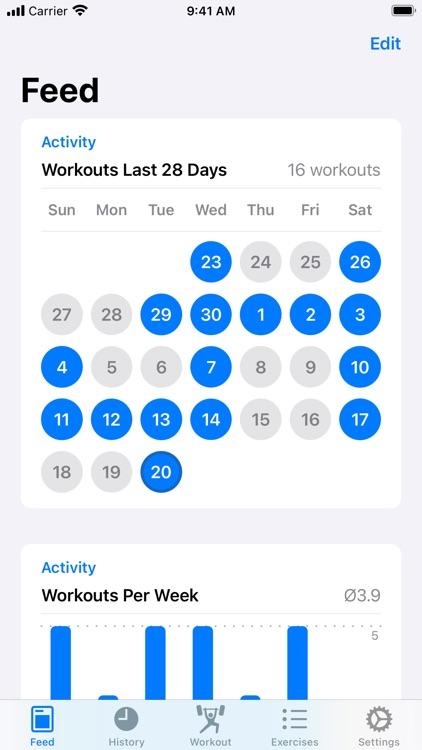Iron - Workout Tracker screenshot-0