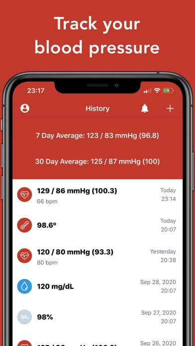 Blood Pressure Tracker+ Screenshot