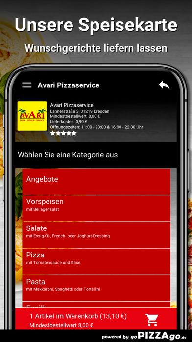 Avari Pizzaservice Dresden screenshot 4