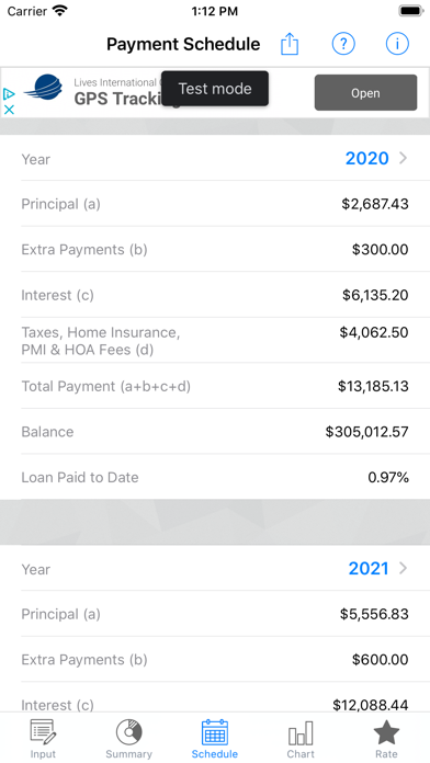U.S. Mortgage CalculatorScreenshot of 3