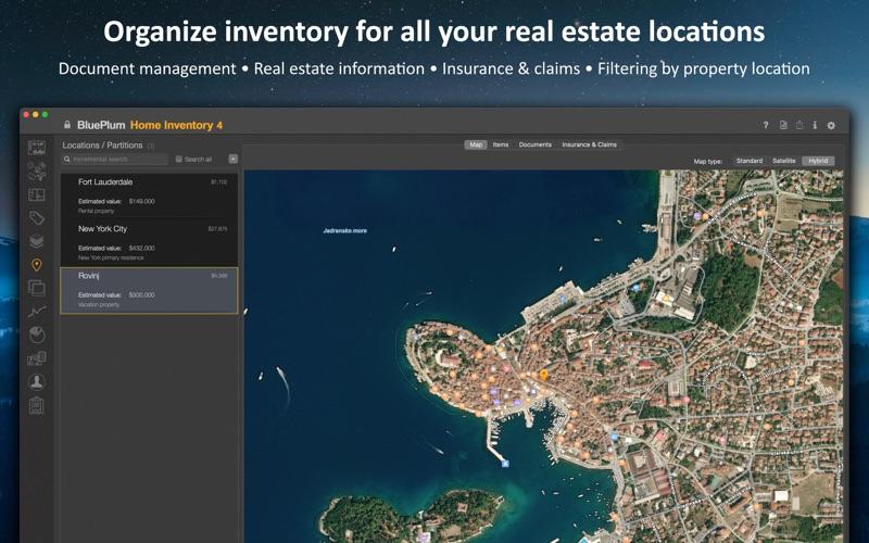 BluePlum Home Inventory Screenshots