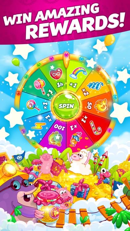 Sugar Worms: Match & Blast! screenshot-3
