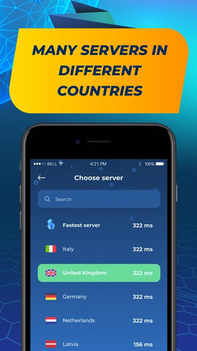 Screen Shot VPN Ultima - Unlimited proxy 3