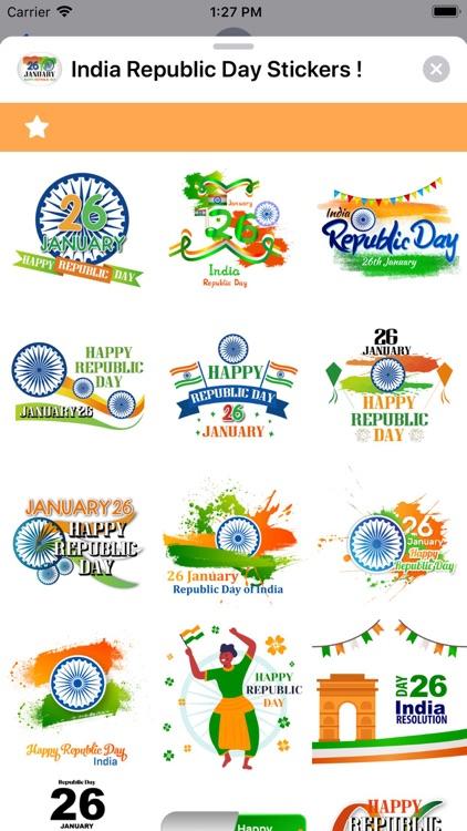 India Republic Day Stickers ! screenshot-9