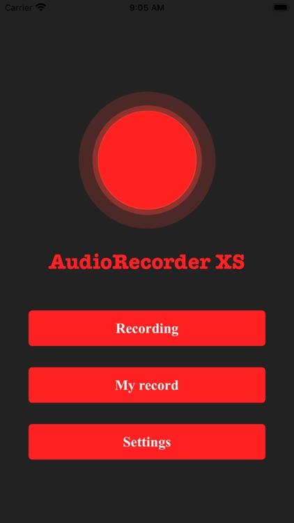 AudioRecorder XS