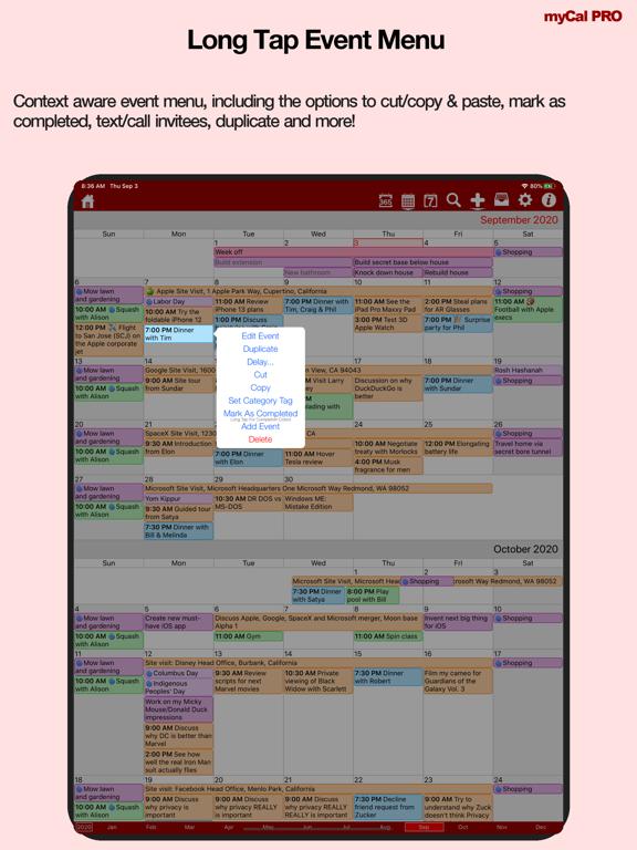 myCal PRO: Calendar & Event Organizer screenshot