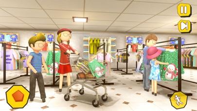 Shopping Mall- Stickman Family screenshot 2