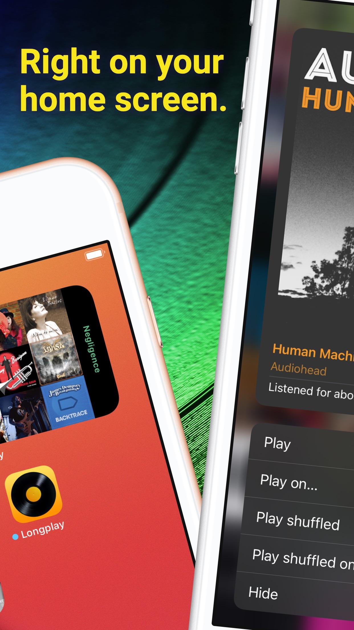 Screenshot do app Longplay