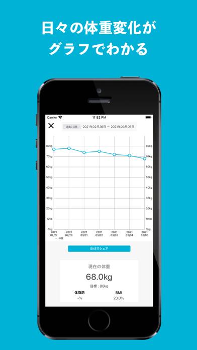 断食機能付きの体重記録カレンダーのおすすめ画像4