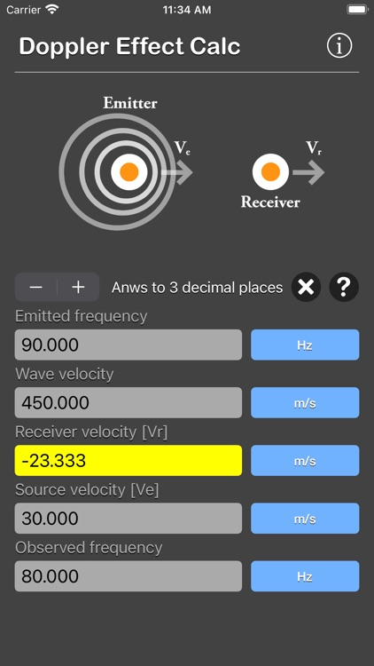 Doppler Effect Calculator screenshot-3