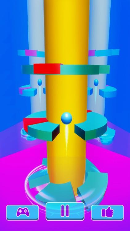 Helix Ball Bounce - Go Up Jump screenshot-6