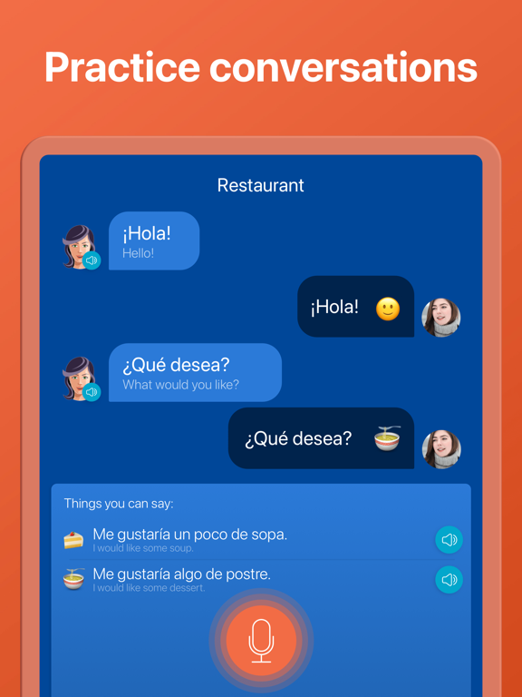Learn 33 languages: Spanish, English and French lessons with Mondly screenshot