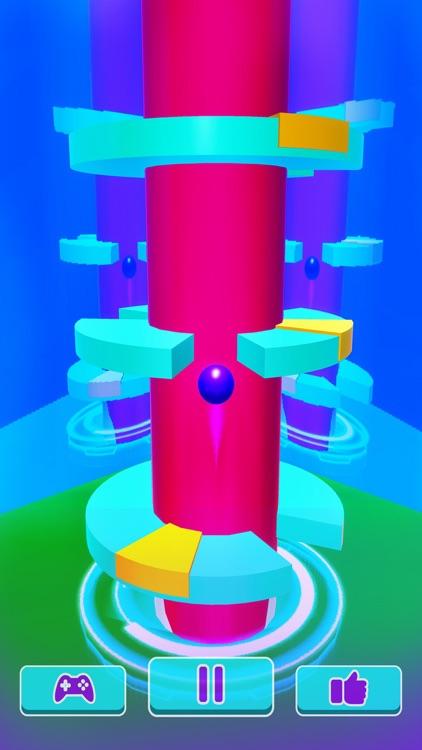 Helix Ball Bounce - Go Up Jump screenshot-3