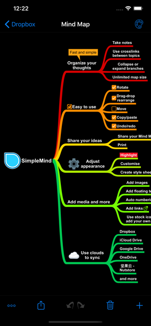 ‎SimpleMind - Mind Mapping Screenshot