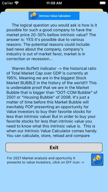 Intrinsic Value Calculator DIY screenshot-3