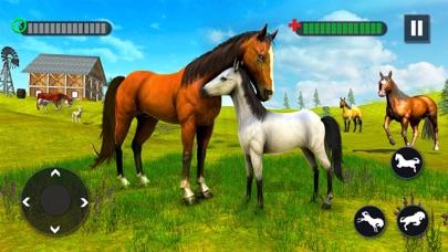 野生の馬の家族の生存3D紹介画像1