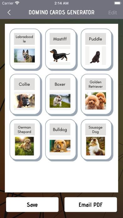 Domino Card Maker screenshot 3