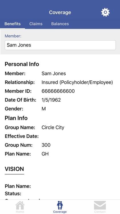 USFHP – SVCMC Member Portal