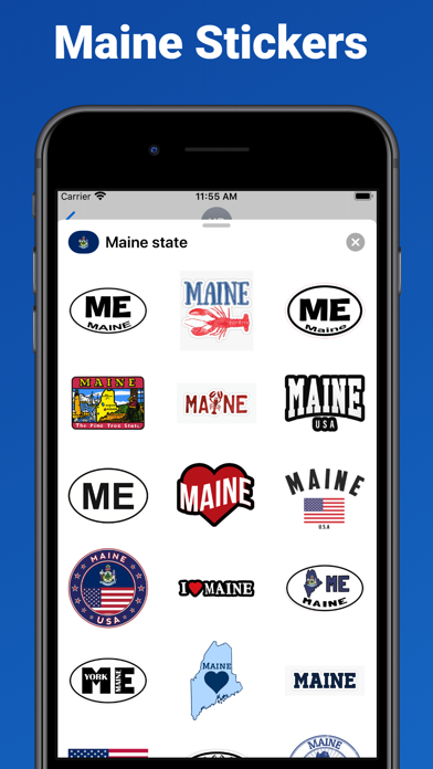 Maine state - USA stickers screenshot 1