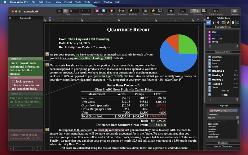 Nisus Writer Pro 3 Screenshots