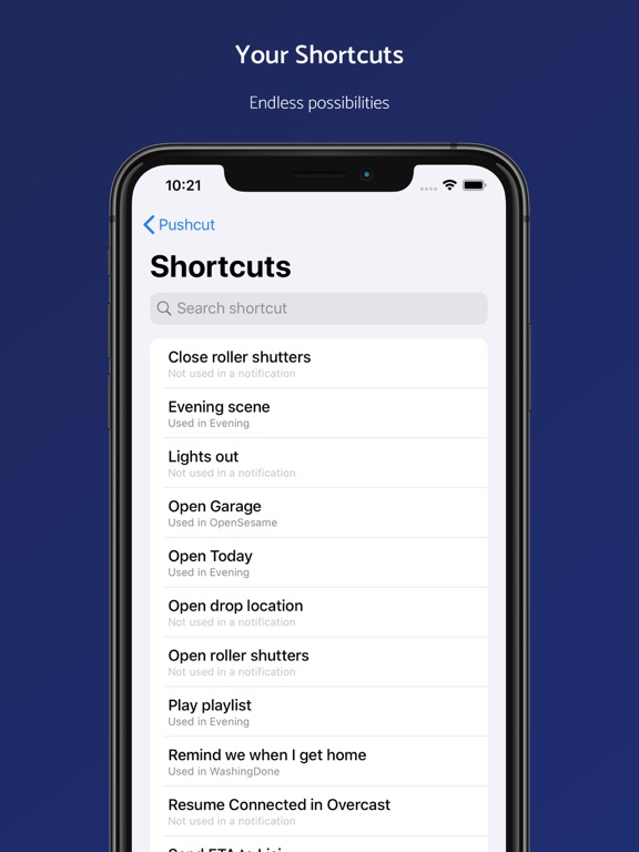 iPad Image of Pushcut: Shortcuts Automation