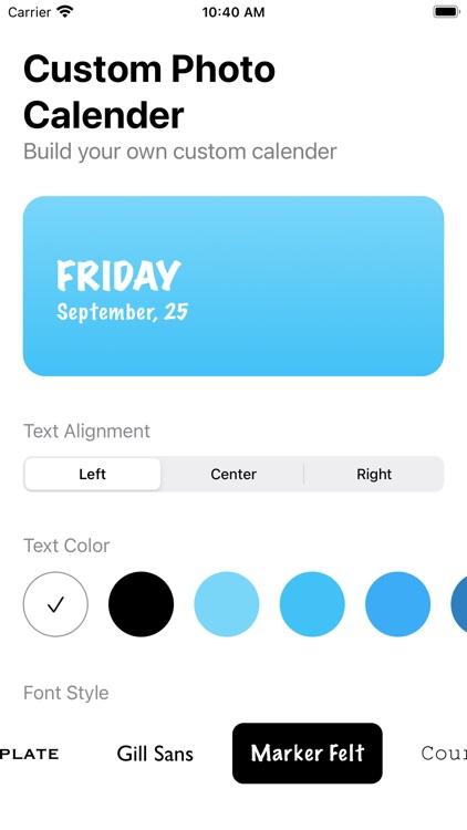 Color Photo Calendar Widget screenshot-3