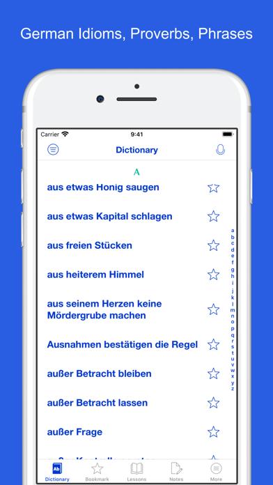 German Idioms, Proverbs screenshot 1