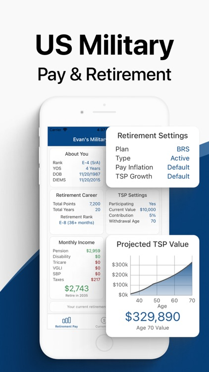Military Money: Pay & Pension screenshot-0