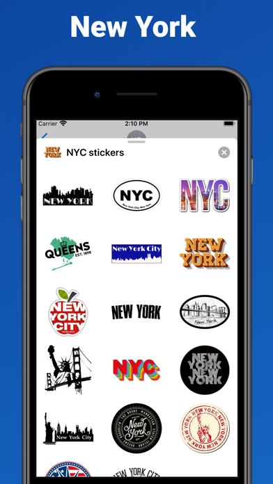 New York City stickers & emoji screenshot 2