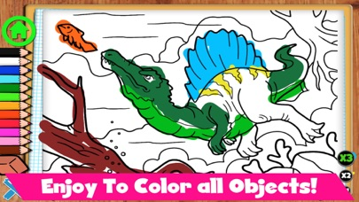 Coloring Dinos screenshot 2