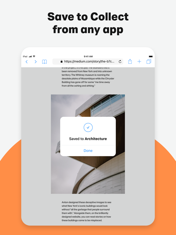 Collect by WeTransfer iPad app afbeelding 6