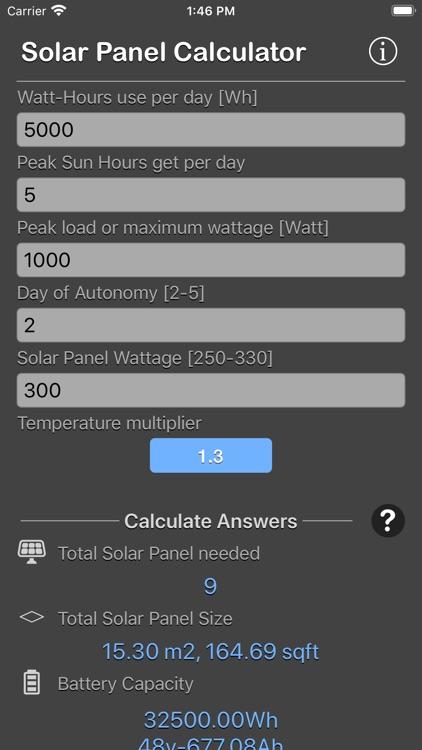 Solar Panel Calculator Plus