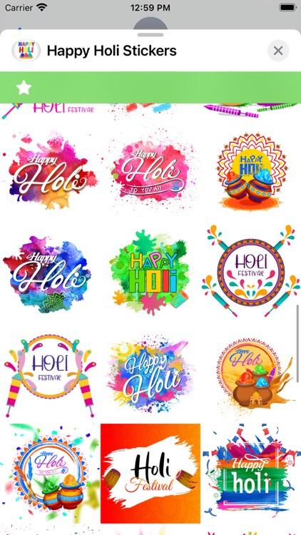 Happy Holi Stickers ! screenshot-4