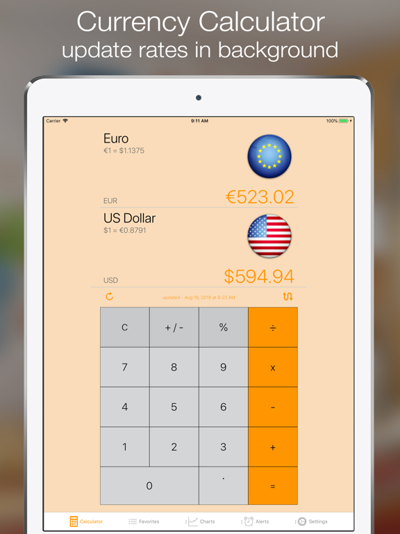 Currency+ Free (Currency Exchange Rates Converter, Historical Charts, Trends and Alerts) screenshot
