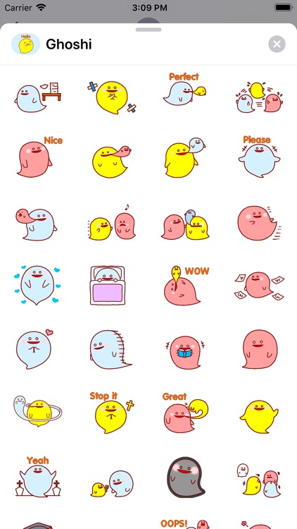 Ghoshi Funny Stickers Pack