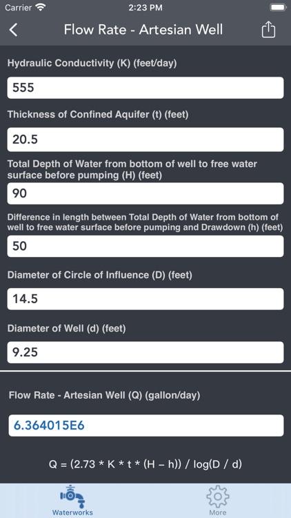 Waterworks Calculations screenshot-7