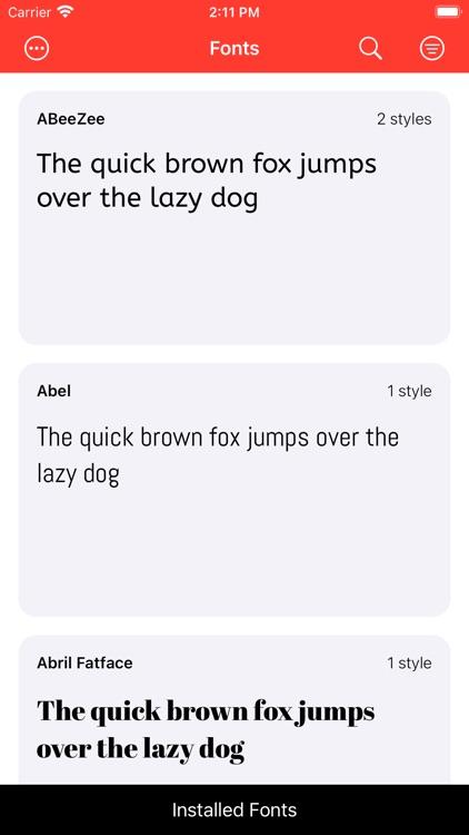 Fontastic - Install Fonts