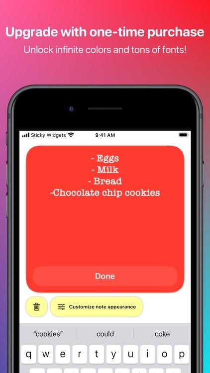Sticky Widgets screenshot-3
