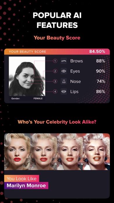 Screenshot of Gradient: Beauty Score App