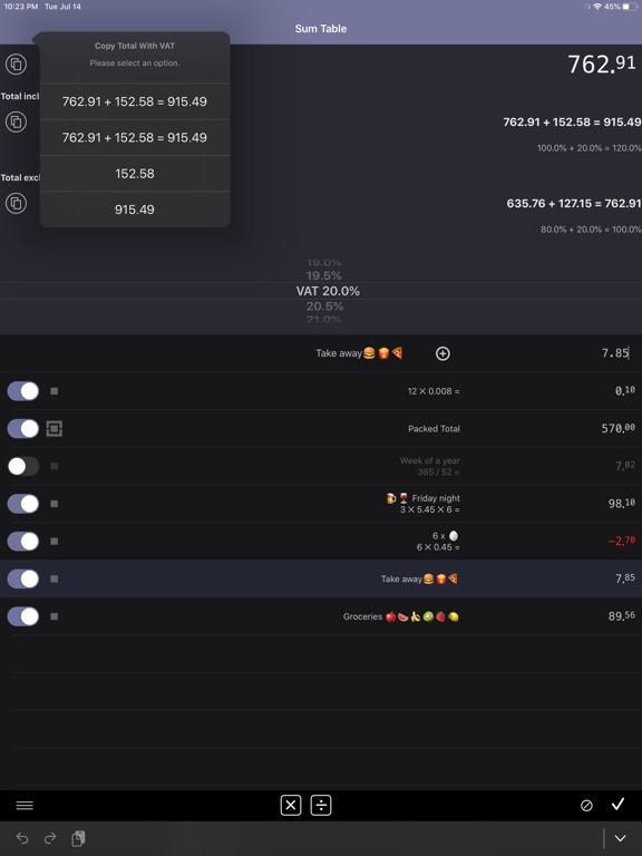 Easy Sum | Shopping List Screenshots