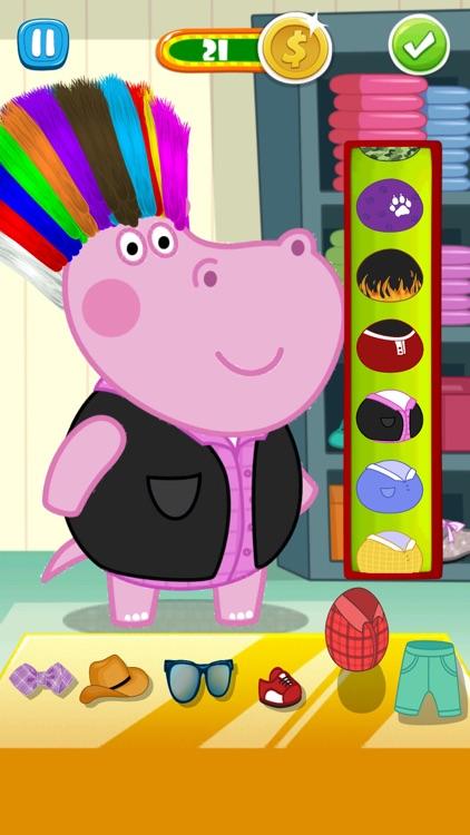 Hair Salon Hippo Fun Game