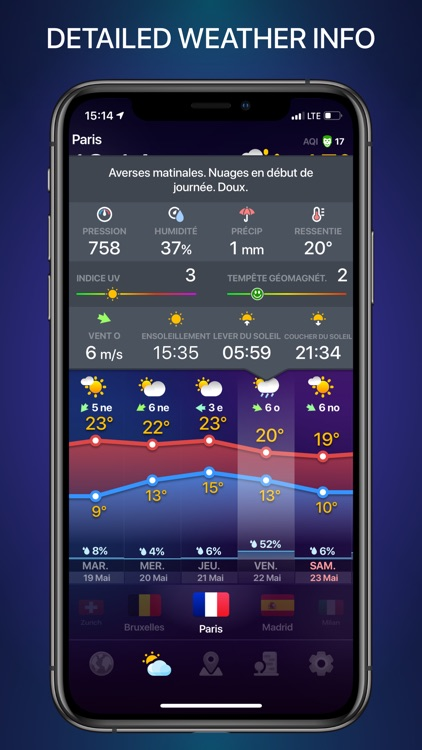 WEATHER NOW daily forecast app screenshot-8