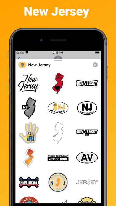 New Jersey state USA stickers screenshot 1