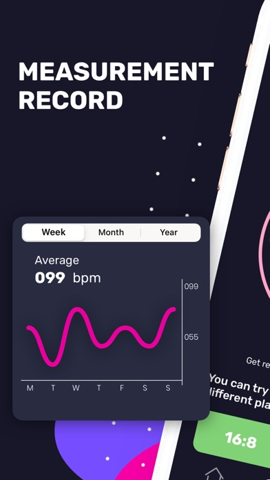 Heart Rate & Meal Tracker Screenshot