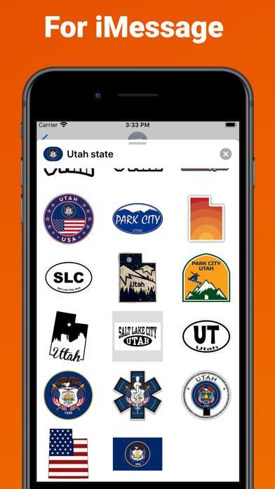 Utah state - USA stickers screenshot 3