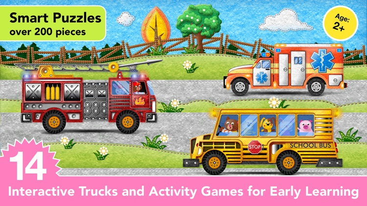 Ice Cream & Fire Truck Games 4