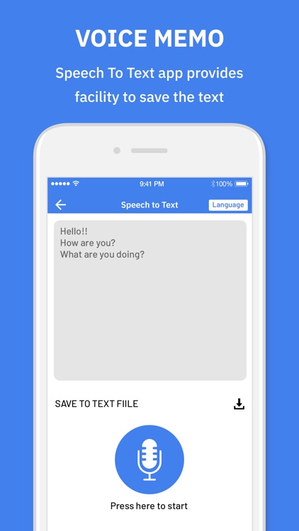 Voice Memo : Text To Speech screenshot-3