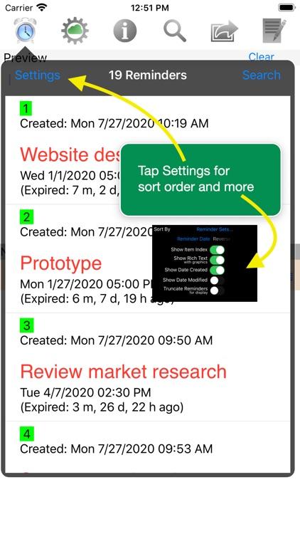 Menu Minder - To Do Reminders screenshot-6