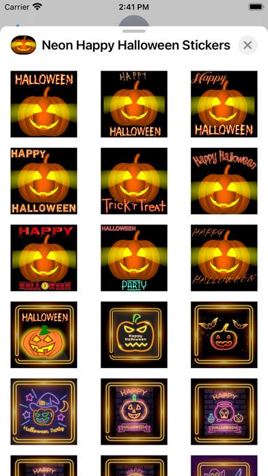 Neon Happy Halloween Stickers screenshot 3