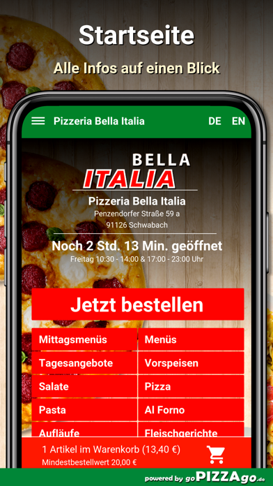 Bella Italia Schwabach screenshot 3